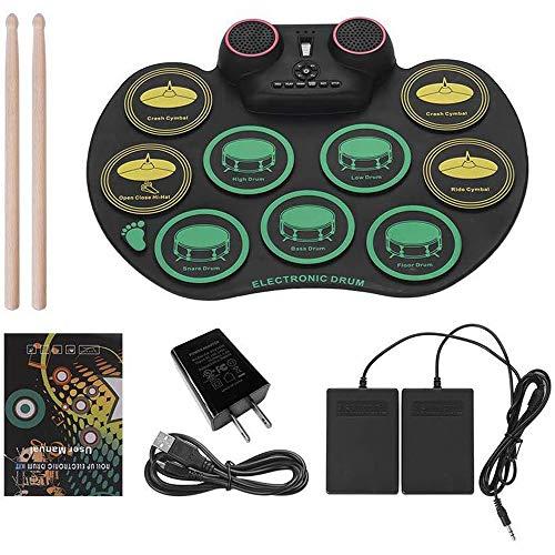 LuYi-Ww Batteria Elettronica, Batteria per Bambini, Batteria Elettronica per Principianti con Batteria Ricaricabile, Fino a 10 Ore di Gioco