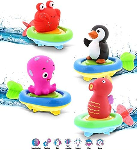DolliBu Sea Life Boat Racers Credence Bundle Set - 4 Toy 3-in-1 Bath discount of P
