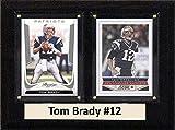 NFL New England Patriots Tom Brady Two Kartenplakette, 15,2 x 20,3 cm, Braun -