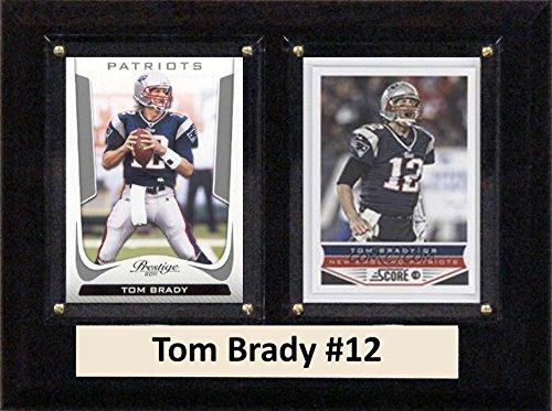 NFL New England Patriots Tom Brady Two Kartenplakette, 15,2 x 20,3 cm, Braun