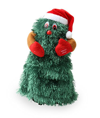 Animated Dancing Christmas Tree - Sings 'Jingle Bell Rock' - Green