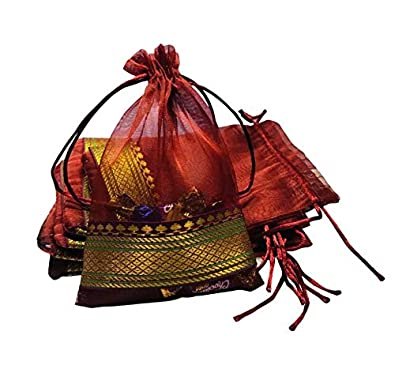 Moira Potli Bags Silk Brocade (18 cm X 12 cm)