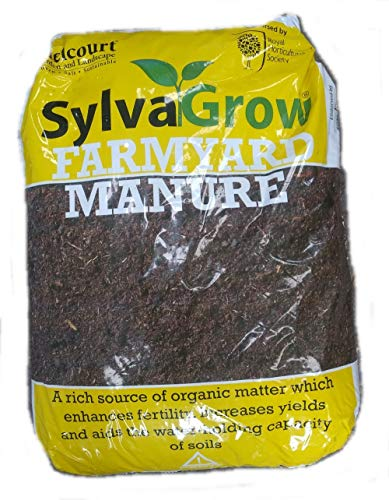 50 Litre sacks of Melcourt Sylvagrow RHS endorsed Farmyard Manure - ideal for improving soil structure, fertility, suppressing weeds and as a mulch
