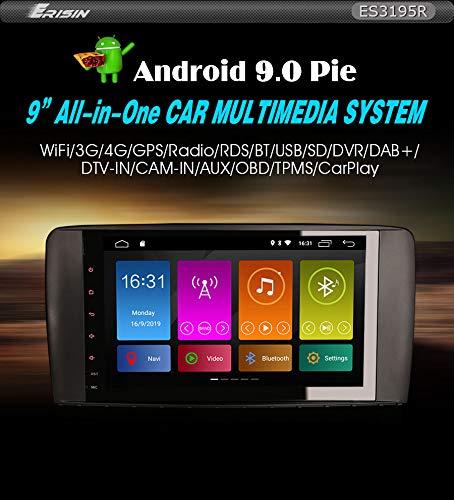 Erisin Estéreo de Coche Compatible ES3195R 9' Mercedes R Class W251 Android 9.0 GPS Dab+ Sat NavDSP BT