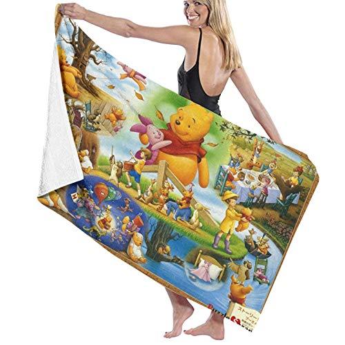 Custom made Winnie The Pooh - Toalla pestemal de calidad muy suave y muy absorbente, ideal para la playa o como manta de 80 x 130 cm