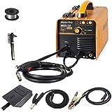 Display4top Mig-130Plus + 3-En-1 Mig/Mag Gas y Sin Gas/Mma Soldadora 220V, Traje Para Soldar Acero Al Carbono, Aluminio, Acero Inoxidable, Etc.