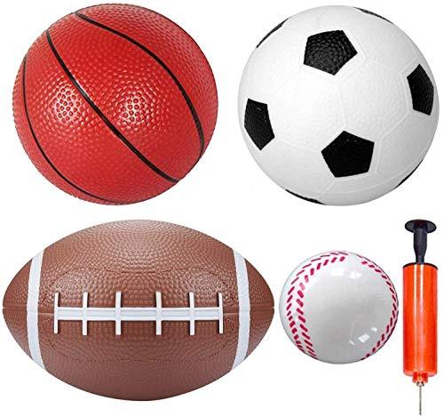 Balles de sport Set 6 'Soccer 6' Basket-ball 8.5 'Rugby 3'...
