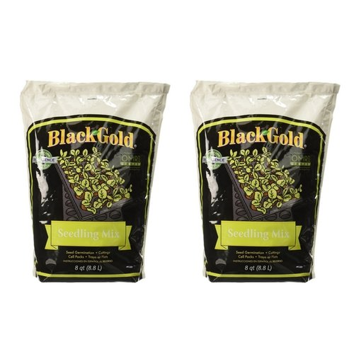 Black Gold 1311002 8-Quart Seedling Mix (2 Pack)