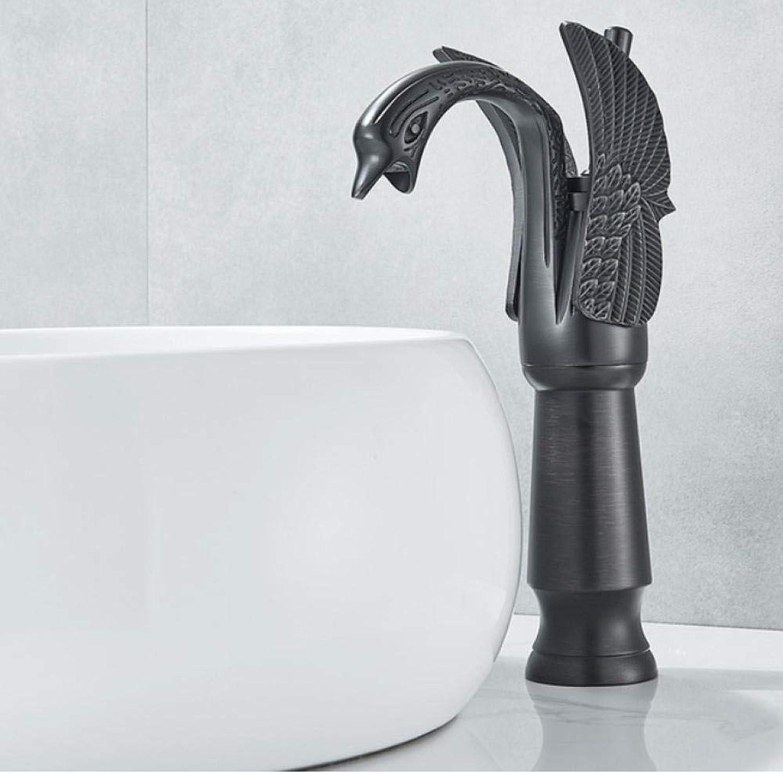 Lddpl Wasserhahn Luxus Schwan Form Messing Becken Waschbecken Wasserhahn Bad Einlochmontage Becken Mischbatterie Chrom Weier Schwan Wasserhahn
