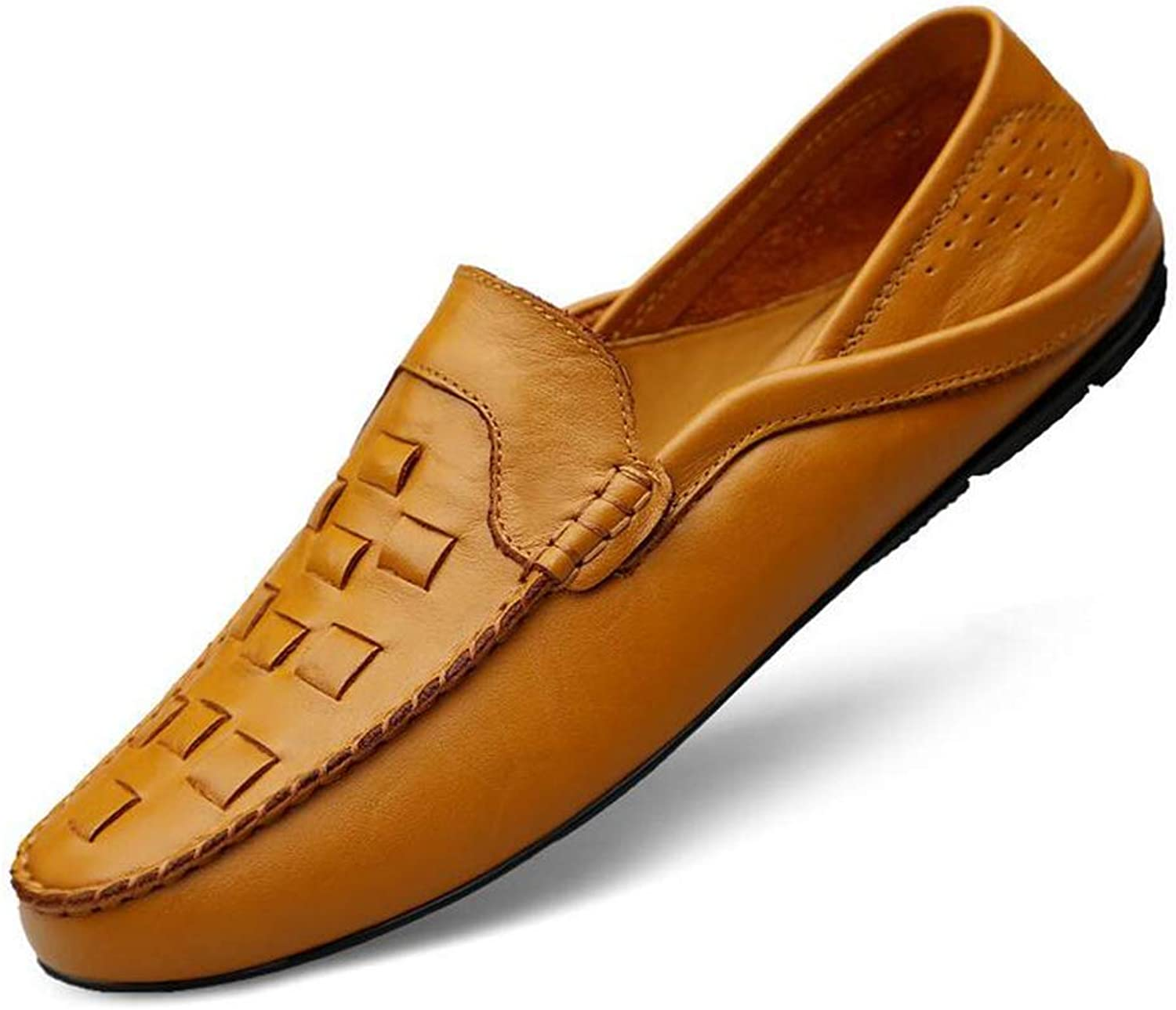Y-H Mens Leather shoes, Spring Fall Casual shoes, Loafers & Slip-Ons Lazy shoes Peas shoes,Flat Comfort Driving shoes (color   B, Size   40)