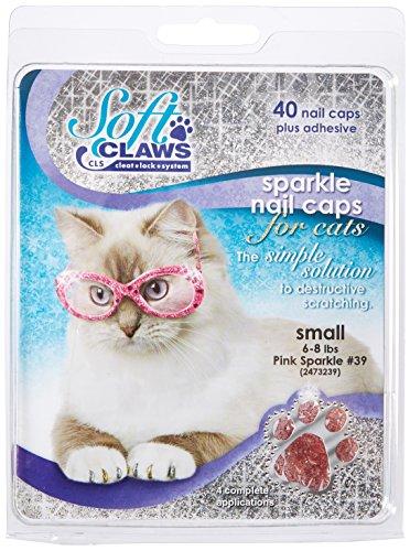 Soft Claws Inc Doux Griffes pour Chats, Taille S, Couleur Rose Paillettes