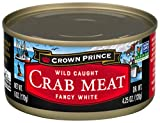 Crown Prince Fancy White Crab Meat, 6-Ounce Cans (Pack of 12)