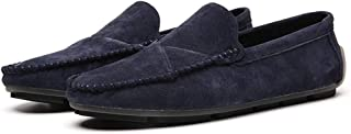 Men Suede Driving Comfort Loafers Brogue Casual Walking Flat Moccasin Business Classic Dress Boat Shoes