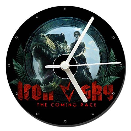 MasTazas Iron Sky The Coming Race Tischuhren CD Clock 12cm
