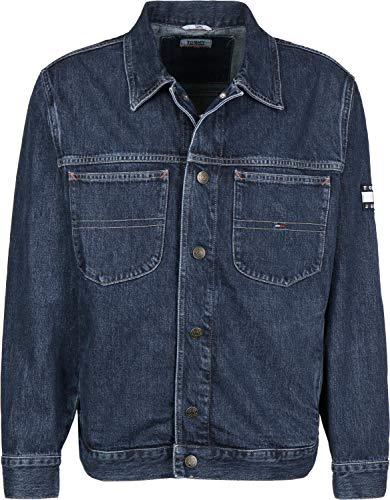 Tommy Jeans Herren OVERSIZED TRUCKER Langarm Jeansjacke Denim Jacke Blau (Sole Mid Rigid 911) X-Large (Herstellergröße: XL)