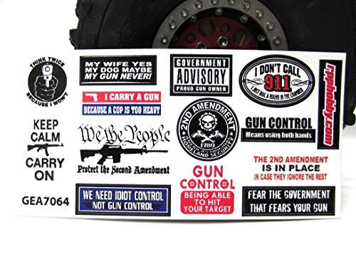 Gear Head RC Gun Control Sticker Sheet