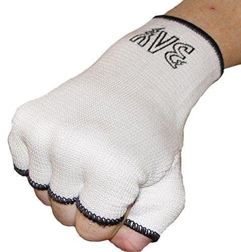 BAY® Schlupfbandagen Größe S, weiß, Faustbandagen, elastische Innenhandschuhe, Handbandagen, Boxbandagen, Box-Bandagen, 1 Paar