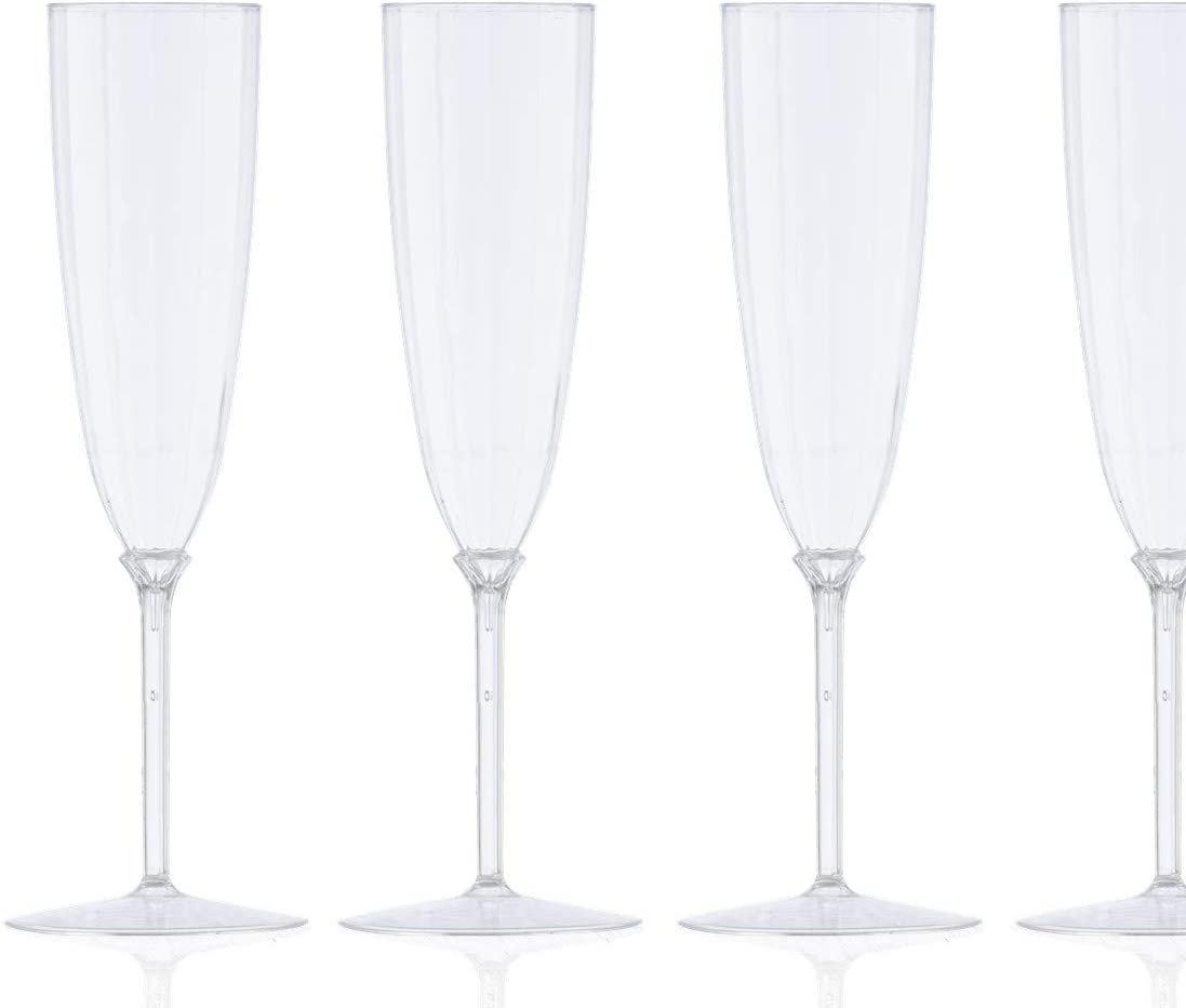 trust 8 Pack - 6 oz Plastic Lowest price challenge Champa Champagne Disposable Clear Flutes