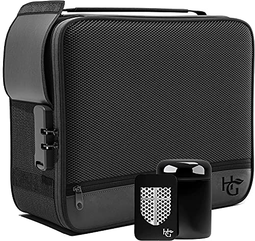 Herb Guard (Black) Extra Large Smell Proof Case with Combination Lock (Smell Proof Box Holds 5 Ounces of Herbs and Dried…