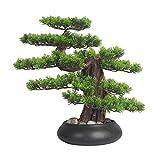 Árbol Bonsai Artificial Árbol de bonsái artificial interior al aire libre de la planta artificial de la planta de la planta del estilo Zen del árbol de los bonsai for el hogar, la oficina y el jardín