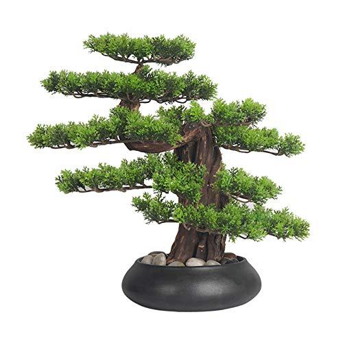 Bonsáis Árbol de bonsái artificial interior al aire libre de la planta artificial de la planta de la planta del estilo Zen del árbol de los bonsai for el hogar, la oficina y el jardín Decor Árbol de s