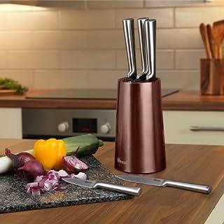 Swan Products - Bloque de Cuchillos (36 x 13 x 13 cm, 5 Unidades), Cobre, 5 Piezas