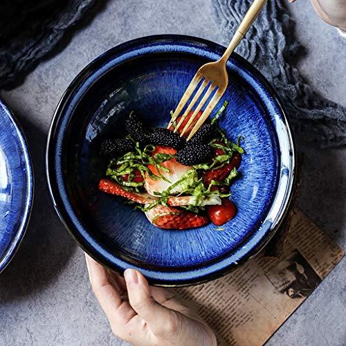 BINGFANG-W Creativa da tavola di Pasta insalatiera Europea Ciotola Ciotola di Riso Ramen Ceramica zuppiera Ciotola 8 Pollici Cucina