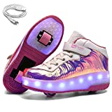 Product Image of the Ehauuo Kids Roller Shoes USB Rechargeable Double Wheel Shoes LED Flashing...