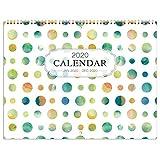 "2020 Wall Calendar - Wall Calendar 2020 Monthly Calendar with Inner Pocket and Pen Loop,Large Ruled Blocks, 22.9"" x 14.9"" (Open)"