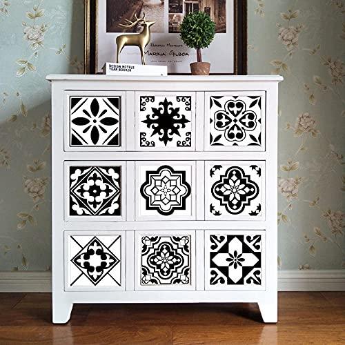 Azulejos Adhesivos Blanco Negro ModernoVinilosCocinaAzulejosAntisalpicadurasVinilosBañoAzulejosImpermeableVinilosdeparedDecorativosPinturaparaAzulejosAdhesivodePared 10x10cm