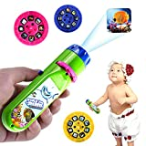 Grenf Slide Projector Torch, Projection Animal Torches Flashlight Educational Learning Bedtime for Child,Kids,Infant,Toddler,Children
