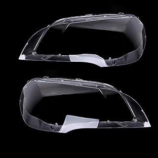 KKmoon Auto Scheinwerfer Abdeckung Linsenabdeckung Klare Scheinwerferschutz Schutzabdeckung Scheinwerferschirm Ersatz für BMW X5 E70 2008 2013