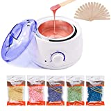 Meltoz Wax Warmer Kit - Professional Wax Heater with 20 Pcs Soothing Applicator