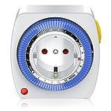 Bearware - 24h mechanische Zeitschaltuhr Plug in Timer - 96 Schaltsegmente - Schaltknopf für Ein Auto-Funktion - kompakte einfache Bedienweise - 3680W - integrierter Berührungsschutz
