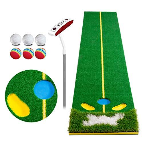 Golfmatten, Golfputtingmatten, Professional Portable Groene Praktijk Long Uitdagende Putten Binnen/Buiten Putting Green Sport Rubber Push Rod Groen Zetten Mat Golf Mat