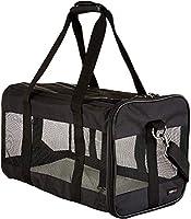 AmazonBasics Large Soft-Sided Mesh Pet Transport Carrier Bag - 20 x 10 x 11 Inches, Black