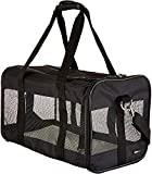 Amazon Basics Soft-Sided Mesh Pet Travel Carrier, Large (20 x 10 x 11 Inches), Black