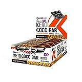 AMIX Nutrition | KetoLean | Keto goMCT Coco Bar | Barritas de Proteína | Sabor a Chocolate | 20 Unidades de 40 g | Especial para Deportistas | Dietas Keto | Acelerador del Metabolismo