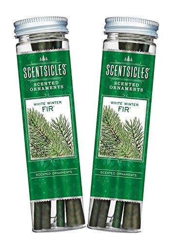 Scentsicles, White Winter Fir Scented Ornament Sticks (2 Bottles, 12 Total Ornament Sticks)