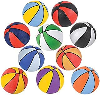 Rhode Island Novelty Assorted 7 Inch Mini Basketballs Set of 6 Colors May Vary