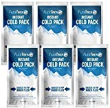 Instant Cold Pack -6 Count - Latex Free- Does NOT Need REFIGRITION -Excellent Cold Pack for Traveling, Sporting, Hiking & ect.-4.5 x 7.5 inches-Reduce Pain and Swelling