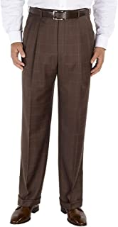 Men's Classic Fit Essential Wool Pleated Suit Pant