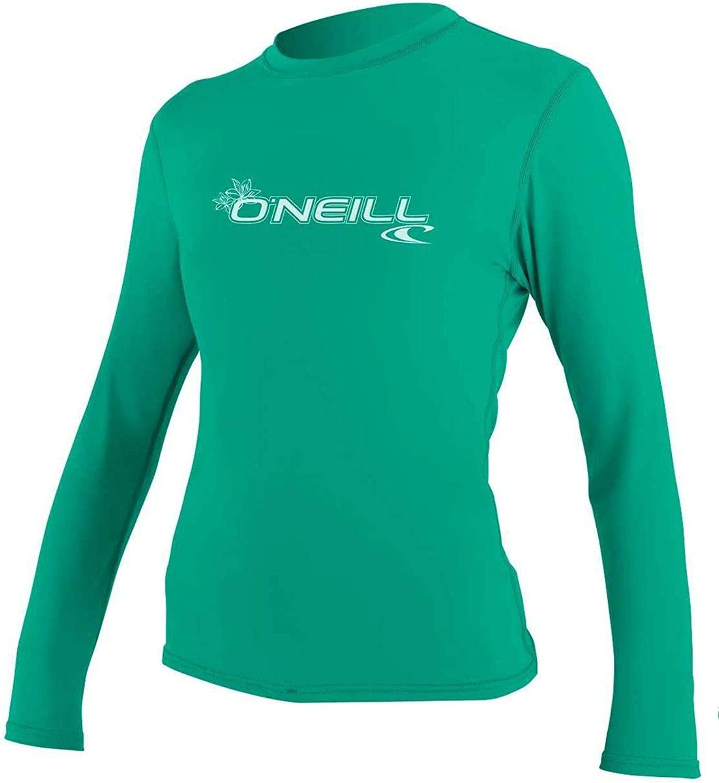 O';Neill Damen Basic Skins Langarm Rash T-Shirt T-Shirt Top Seaglass Slim Fit - UV-Sonnenschutz und SPF-Eigenschaften B07B4JV3BR  König der Menge