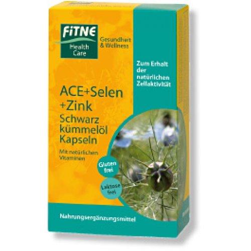 FITNE ACE-Selen-Zink-Schwarzkümmelöl-Kapseln (32 g)