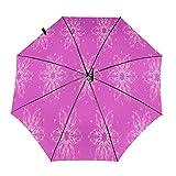 Diseño automático ligero compacto portátil del paraguas del viaje del patrón de la flor rosa y alta resistencia al viento