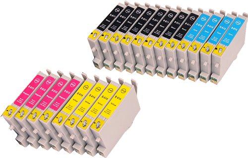 20 Multipack de alta capacidad Epson T0615 Cartuchos Compatibles 8 negro, 4 ciano, 4 magenta, 4 amarillo para Epson Stylus D68, Stylus D88, Stylus D88+, Stylus DX3800, Stylus DX3850, Stylus DX4200, Stylus DX4800, Stylus DX4850. Cartucho de tinta . T0611 , T0612 , T0613 , T0614 , TO611 , TO612 , TO613 , TO614 © 123 Cartucho