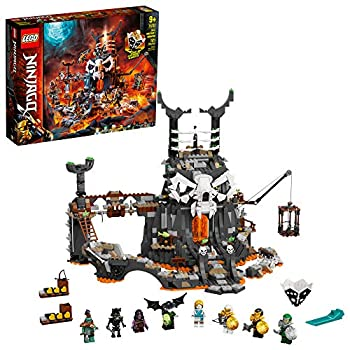 LEGO NINJAGO Skull Sorcerer's Dungeons 71722 Dungeon Playset Building Toy for Kids Featuring Buildable Figures  1,171 Pieces