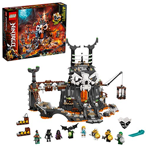 LEGO NINJAGO Skull Sorcerer's Dungeons 71722 Dungeon Playset Building Toy for Kids Featuring Buildable Figures, New 2021 (1,171 Pieces)