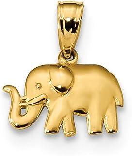 333 Gold 1 Paar Ohrstecker 8 Karat Gelbgold  Zirkonia Motiv Elefant