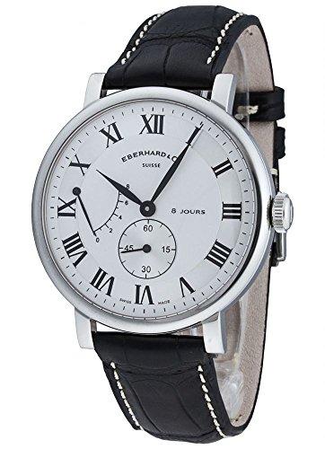 Orologio Eberhard 8 Jours Grande Taille, carica manuale, ETA 7001, 41mm, coccodrillo